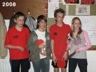 2008 J2 kampioen 5e klas, Bart, Nico K., Laurens, Pip